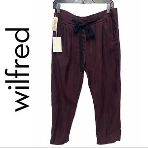 Aritzia Wilfred Allant Cropped Linen Blend Pant